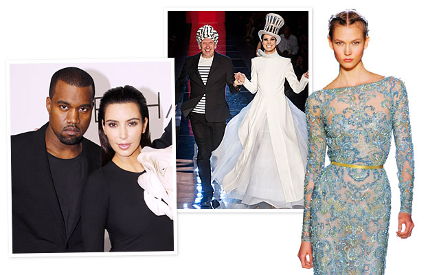 Couture Fashion Week Kim and Kanye