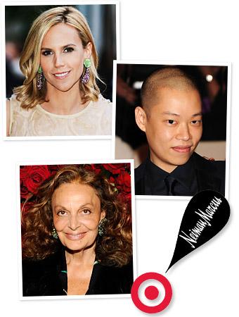 Tory Burch, Jason Wu, Diane von Furstenberg, Target, Neiman Marcus