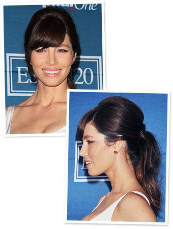 Jessica Biel Ponytail - ESPY Awards