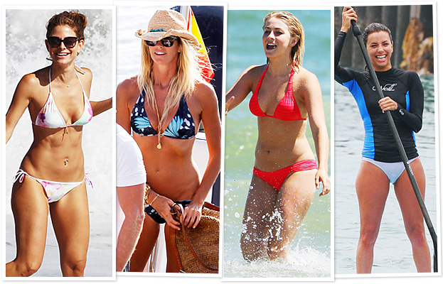 Maria Menounos, Elle Macpherson, Juliane Hough, Eva Longoria