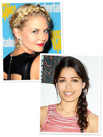 Celebrity Braid Hairstyles - Jennifer Morrison - Freida Pinto
