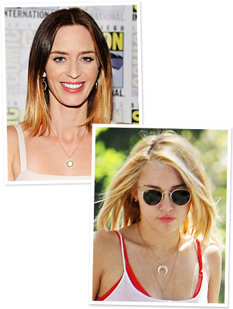 Emily Blunt - Miley Cyrus - Hair Color