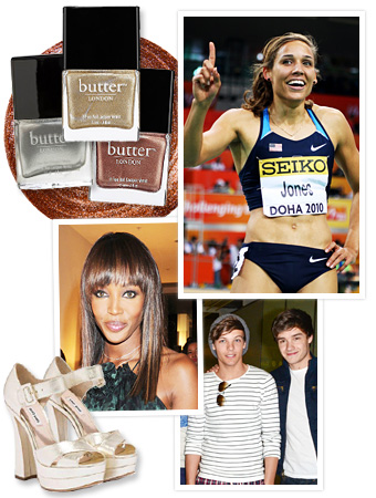 2012 Olympics, Lolo Jones, One Direction, Miu Miu, Naomi Campbell, Butter London