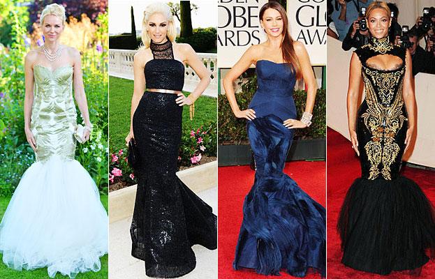 Mermaid Gowns, Naomi Watts, Gwen Stefani, Sofia Vergara, Beyonce