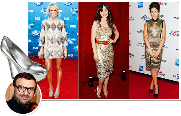 Sergio Rossi, Carrie Underwood, Zooey Deschanel, Camilla Belle