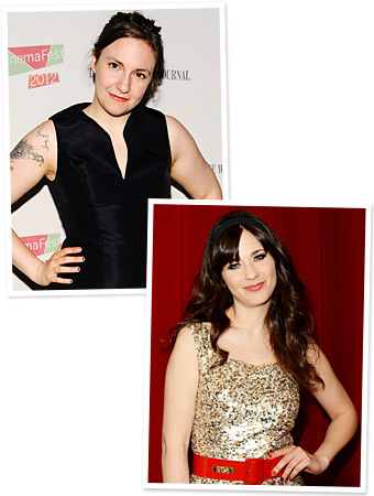 Zooey Deschanel - Lena Dunham - Girls - Nails