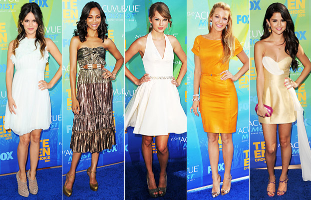 Teen Choice Awards, Blake Lively, Zoe Saldana, Rachel Bilson, Taylor Swift, Selena Gomez