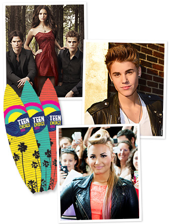 Teen Choice Awards 2012, Justin Bieber, Demi Lovato