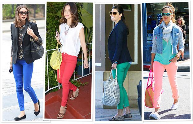 Colored Denim, Olivia Palermo, Katharine McPhee, Jessica Biel, Jessica Alba