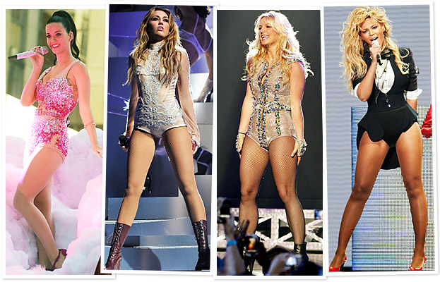Katy Perry, Miley Cyrus, Britney Spears, Beyonce