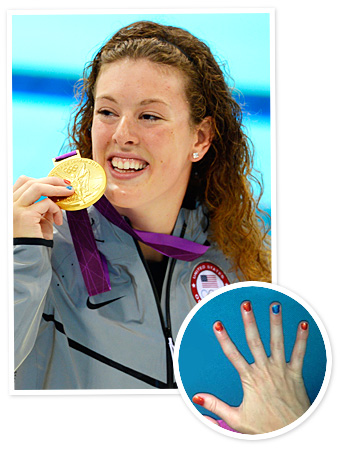 Allison Schmitt - Olympics 2012 - Manicure