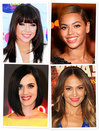 Carly Rae Jepsen, Beyonce, Katy Perry, Jennifer Lopez