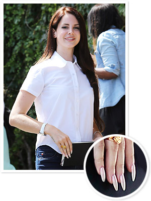 Lana Del Rey Nails