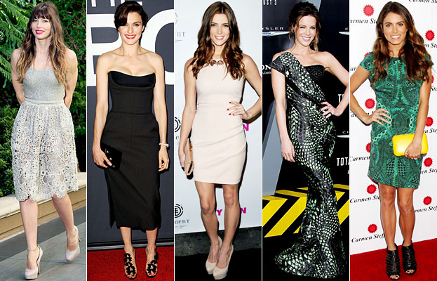 Jessica Biel, Rachel Weisz, Ashley Greene, Kate Beckinsale, Nikki Reed
