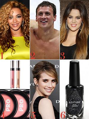 Beyonce, Ryan Lochte, Khloe Kardashian