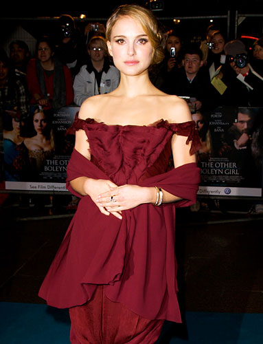 Natalie Portman Burgundy