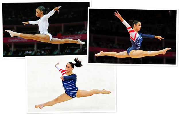 Gabby Douglas, Aly Raisman, Jordyn Weiber