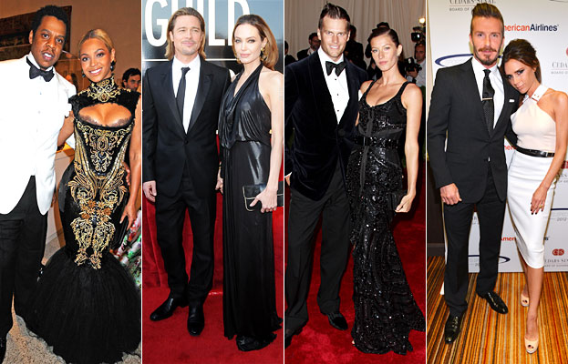 Jay-Z and Beyonce, Brad and Angelina, Tom and Gisele, David and Victoria Beckham