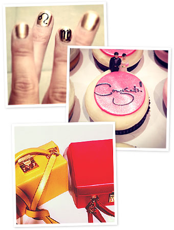 nails, cupcakes, Mark Cross, instagram