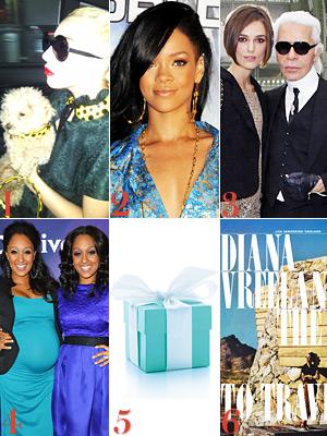 Lady Gaga, Rihanna, Keira Knightley
