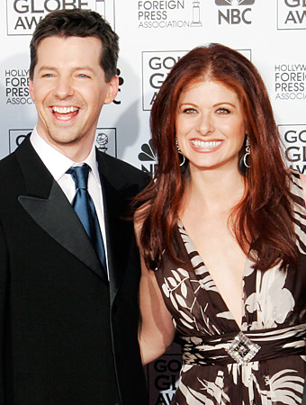 Debra Messing and Sean Hayes