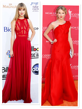 Taylor Swift red dresses