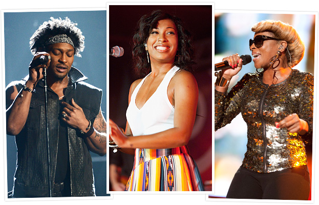 Melanie Fiona D&#039;Angelo Mary J. Blige