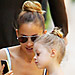 Nicole Richie and Daughter Harlow Match Hairstyles