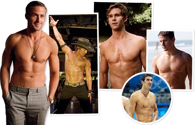 Celebrity Abs Ryan Gosling