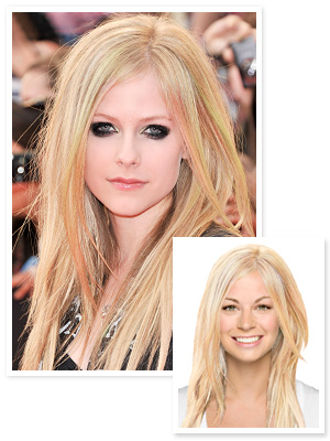 Try on Avril Lavigne's Rainbow Highlights : InStyle.com What's Right Now