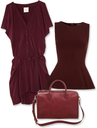 burgundy clothes