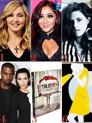 Madonna, Snooki, Kristen Stewart