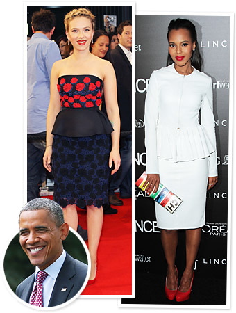 Scarlett Johansson Kerry Washington Obama