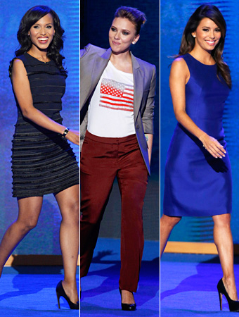 Eva Longoria Scarlett Johansson Kerry Washington DNC