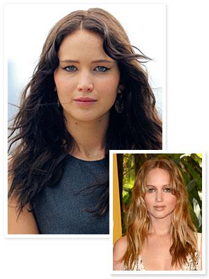 Jennifer Lawrence dark hair