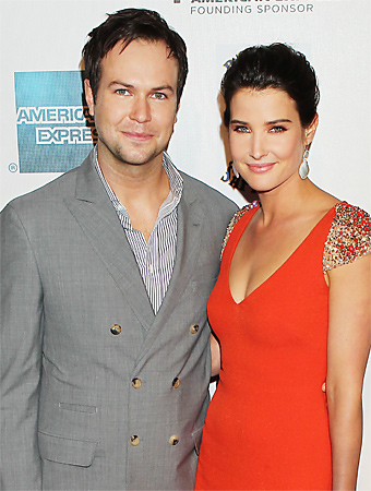 Cobie Smulders with friendly, Husband Taran Killam