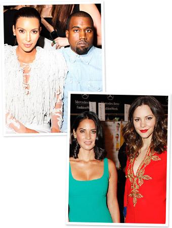 Kim Kardashian, Kanye West, Olivia Munn, Katharine McPhee