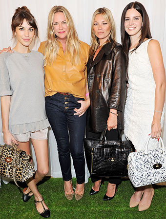 london fashion week mulberry front row