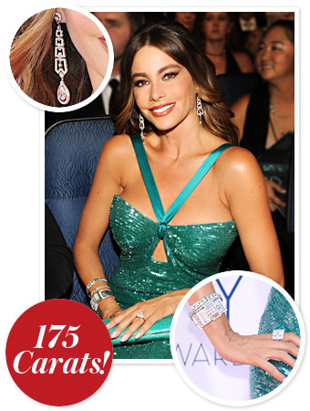 Sofia Vergara Emmys Jewelry