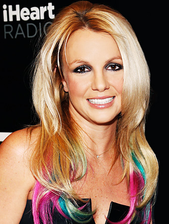 Britney Spears Colored Hair