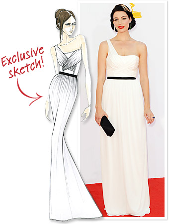 Jason Wu Jessica Pare Emmys 2012 Dress
