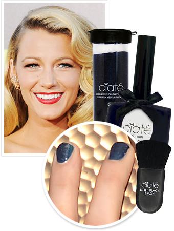 Blake Lively's Velvet Manicure
