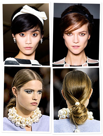 hair accessories Paris fashion week