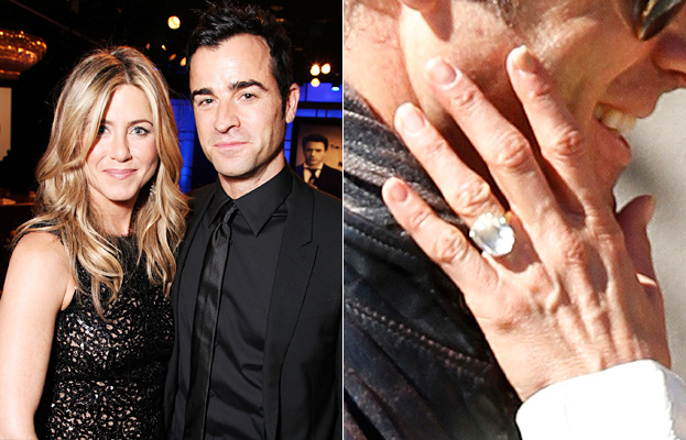 jennifer anistons engagement ring a big photo for a big