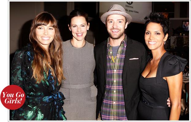 Jessica Biel, Jennifer Garner, Justin Timberlake