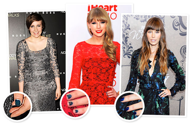 Taylor Swift Blue Nails