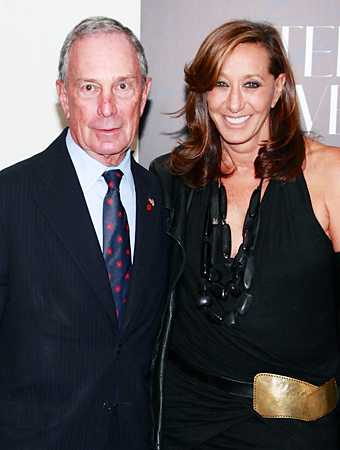 Mayor Bloomberg and Donna Karan