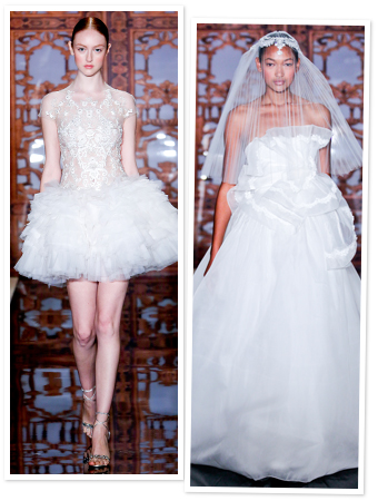 Reem Acra, wedding gowns