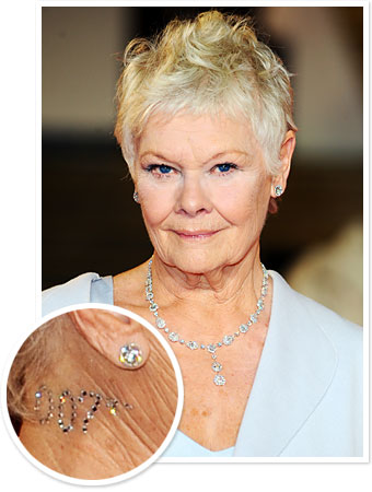 Judi Dench Wore a 007 Crystal Tattoo to the London Skyfall Premiere