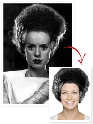 Bride of Frankenstein Hair